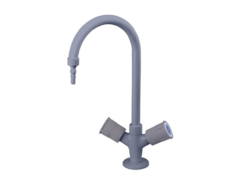 Hot-cold single water lab faucet